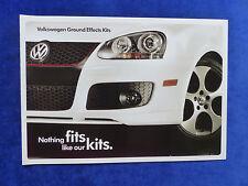 VW USA - Ground Effects Kits - GTI Jetta Rabbit - US-Prospekt Brochure 2006