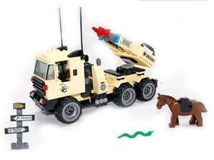 Military-Rocket-Launcher-Truck-amp-Horse-Custom-Lego-Set