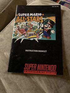 Super Mario All-Stars SNES Super Nintendo Instruction Manual Only - Good