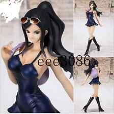 New One Piece DEAD OR ALIVE Nico Robin Blue Dress with backpack 17cm PVC Figure