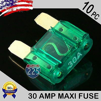 10 Pack 50A AMP Gold Large Blade Style Audio Maxi Fuse Car 12V 24V 32V Auto US