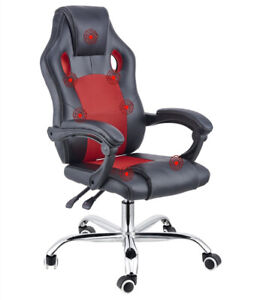 7 Point Massage Racing Office Chair Executive Heated Computer Leather Game Red