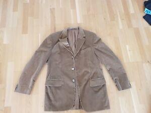 rar-Vintage-beige-cord-jacket-M-50-hipster-folk-60s-70s-80s-Woehrl-carl-gross