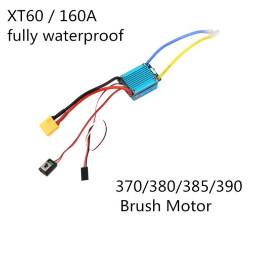 160A 3S Brushed Speed Controller ESC For 1//12 RC Car Boat Truck Motor Hobby 1641