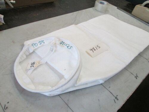 "Dust Collector Steel Ring Polypropylene Bags PO25 9/"" OD Ring 24/"" Lg Lot 10 NIB"