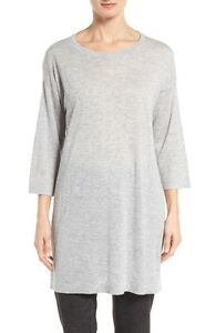 e67eefdaf4990 NEW Eileen Fisher Tencel®   Merino Wool Blend Tunic- Ash size S  228 ...