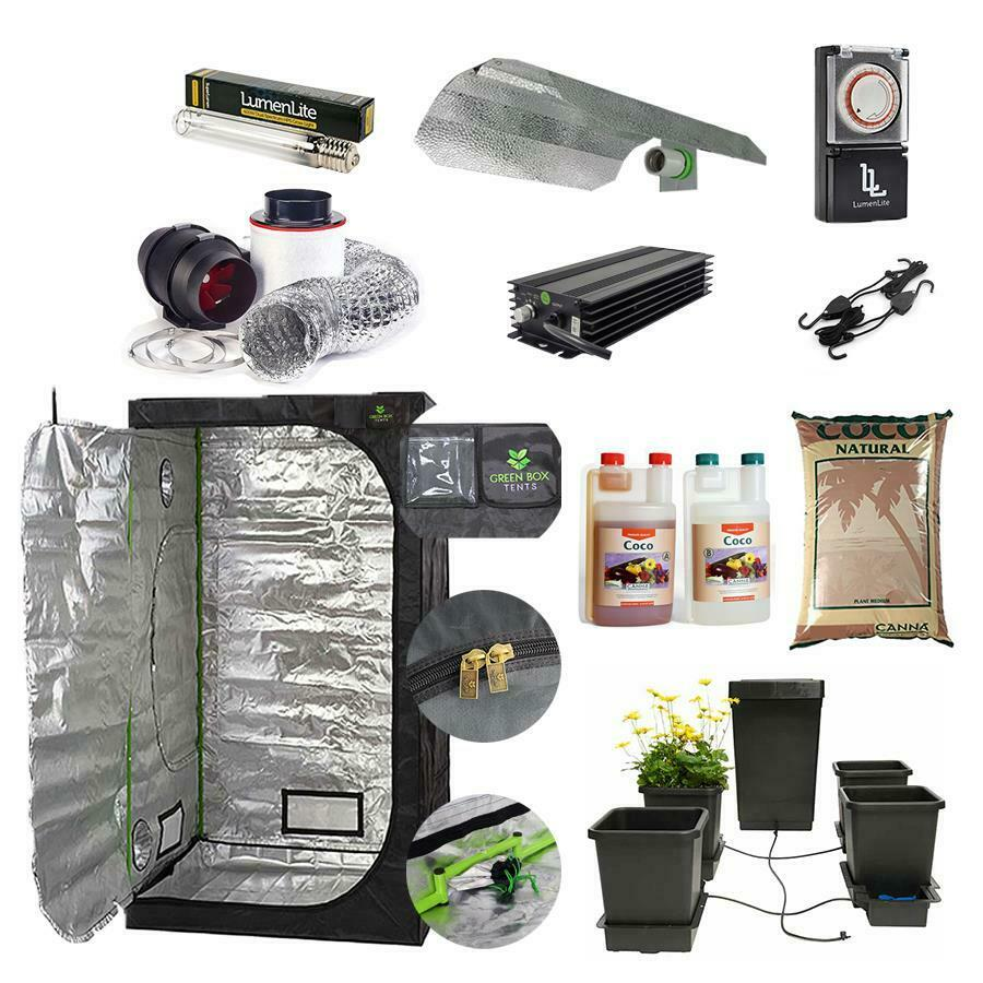 Complete AutoPot Grow Tent Kit Canna Coco 600w Dual Spectrum Dimmable Light Kit