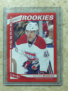 13-14-OPC-O-PEE-CHEE-Marquee-Rookie-RC-Red-Border-SP-579-NATHAN-BEAULIEU