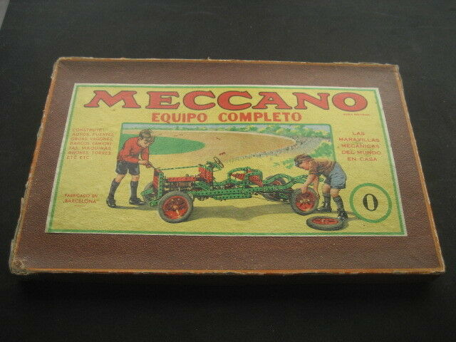 Box Meccano with Parts. Number 0