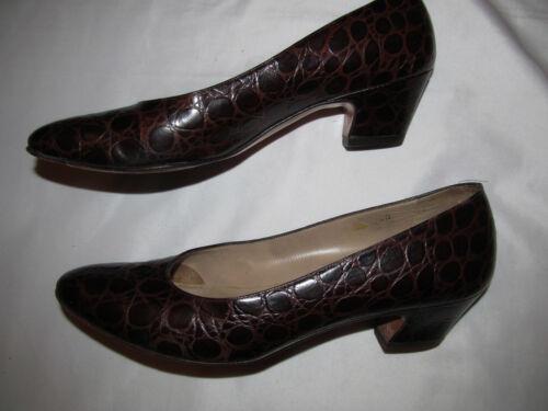Salvatore Croc Loafers Dark Aaa Polished 7 Schoenen Alligator Skin Ferragamo Brown EDHWIY29
