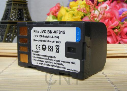 2X Batería Cargador Para Cámara De Vídeo Digital JVC BN-VF815 GR-D750 GZ-HD6 HD7 HD3
