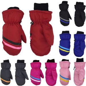 Kids Snow Snowboard Long-sleeved Mitten Outdoor Riding Children Ski Gloves