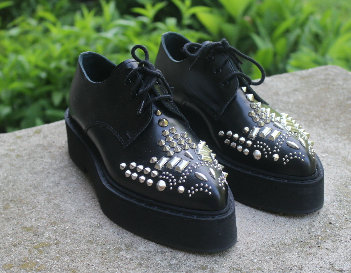HOT - Shoes Alexander McQueen Leather Spiked Studded Platform Oxfords Shoes - 35.5 5.5 9c4f7d