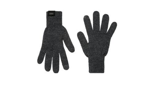 Audi originales deporte GmbH soga guantes unisex gris lana Pantalla táctil lana merina