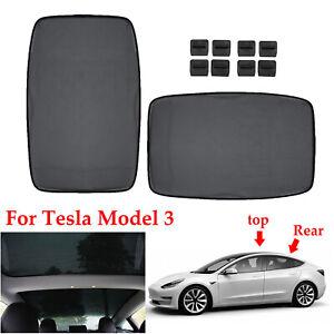 For Tesla Model 3 Interior Roof Sun Visor Sunscreen ...