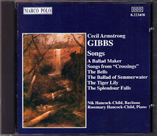 Cecil Armstrong GIBBS 25 Songs Crossings NIK HANCOCK-CHILD CD The Bell Dusk
