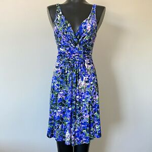 XS-Womans-VENUS-Ruched-Floral-Sleeveless-Dress