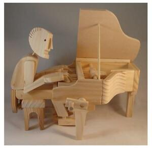 Timberkits Double Bass Kit Wooden Self Assembly Automaton Kit.