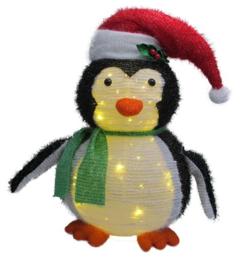 60 warmweiße LED Pinguin mit Weihnachtsmütze Winter Herbst Weihnachten Deko