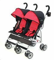 Kolcraft 2016 Cloud Lightweight Double Umbrella Stroller In Scarlet Brand