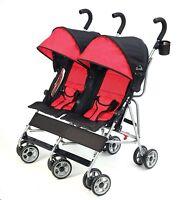 Kolcraft 2016 Cloud Lightweight Double Umbrella Stroller In Scarlet Brand