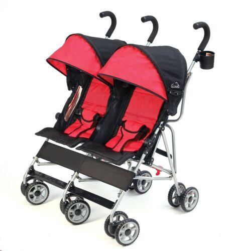 Kolcraft 2016 Cloud Lightweight Double Umbrella Stroller in Scarlet Brand New!!