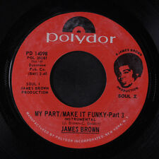 JAMES BROWN: My Part / Make It Funky Pts. 3 & 4 45 Funk