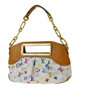 Auth-LOUIS-VUITTON-Judy-PM-Chain-Shoulder-Hand-Bag-Monogram-Multi-M40257-96MD763