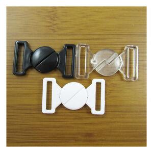 2-BIKINI-CLIPS-SWIMWEAR-HOOK-amp-SNAP-PLASTIC-CLASPS-15mm-STRAP-HABERDASHERY-BRA