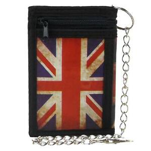 Mens-Boys-Union-Jack-Tri-Fold-Wallet-with-Chain-Clip-British-UK-Flag
