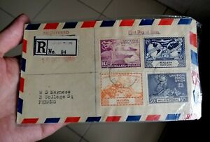 1949 Malaya Penang UPU 4v Stamps First Day Cover
