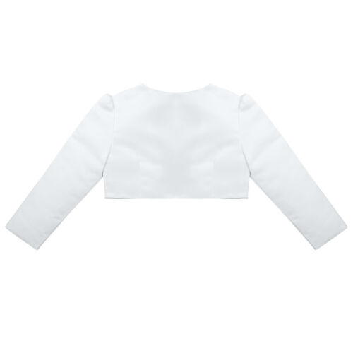 UK Girls Bolero Shrug Short Jacket Cardigan Flower Girl Dress Wedding Party Wear