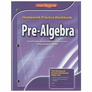 Details about Pre-Algebra, Homework Practice Workbook: By McGraw-Hill