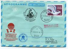 1982 Ballonpost n. 68 Pro Juventute Aerostato OE-AZP Oberwart Stegersbach Wien