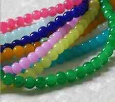 8MM 4MM 6MM New Top Quality Imitation jade round glass Loose Beads Choose