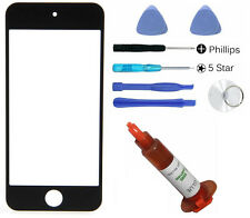 Black front outer glass lens screen iPod Touch 5 replacement + UV LOCA + Tools