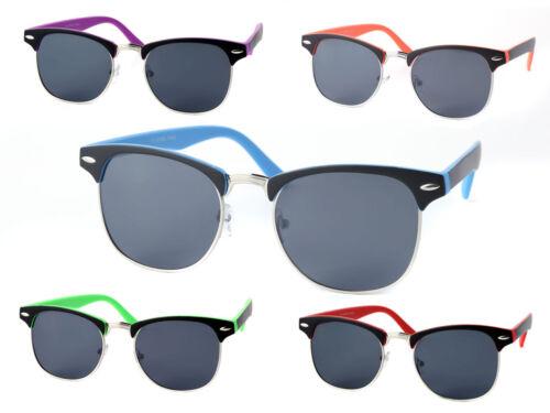 Sonnen-Brille 60er Clubstyle Herren Damen Retro markanter Halbrahmen