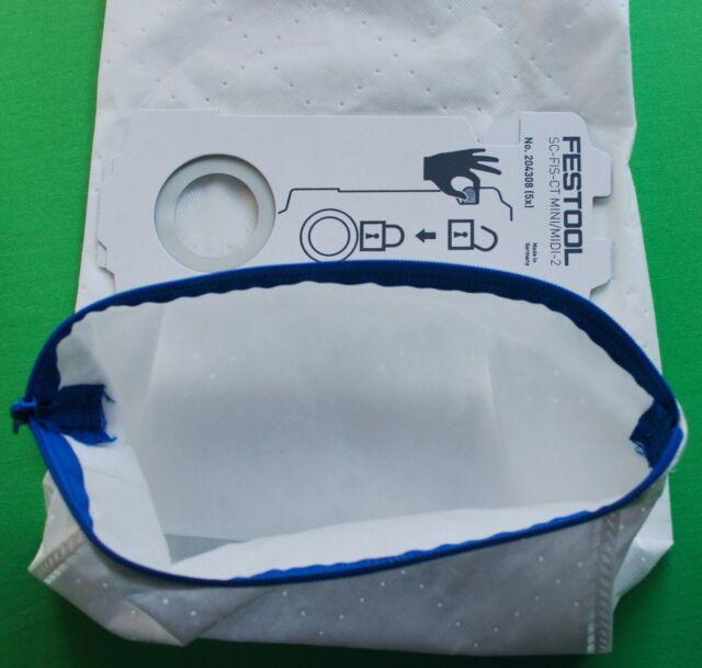 Festool 204308 Dust extractor REUSABLE Filter Bag With Zip SC FIS-CT MINI MIDI 2