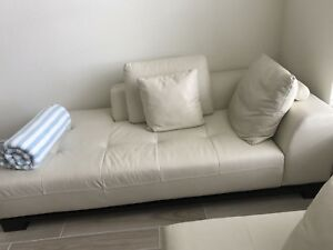Details About Z Gallerie S Blanco Sectional White Leather Sofa Excellent Condition