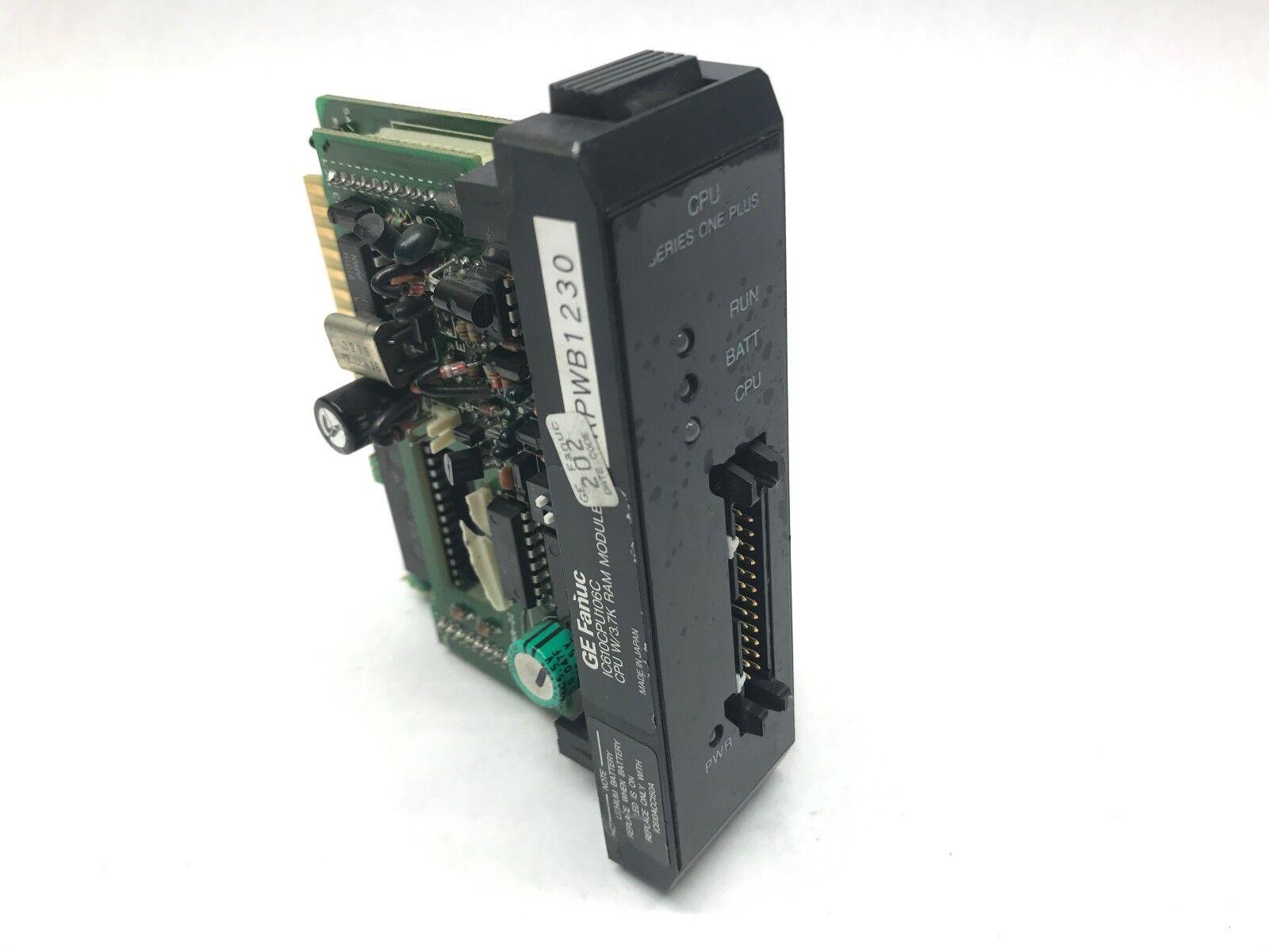 GE Fanuc IC610CPU106C Series One Processor (NO BATTERY)