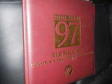 1997 MERCURY GRAND MARQUIS SABLE COUGAR COLOR UPHSTY DEALER ALBUM BINDER ALONE
