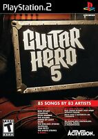& Sealed Ps2 Guitar Hero 5 Game Playstation 2