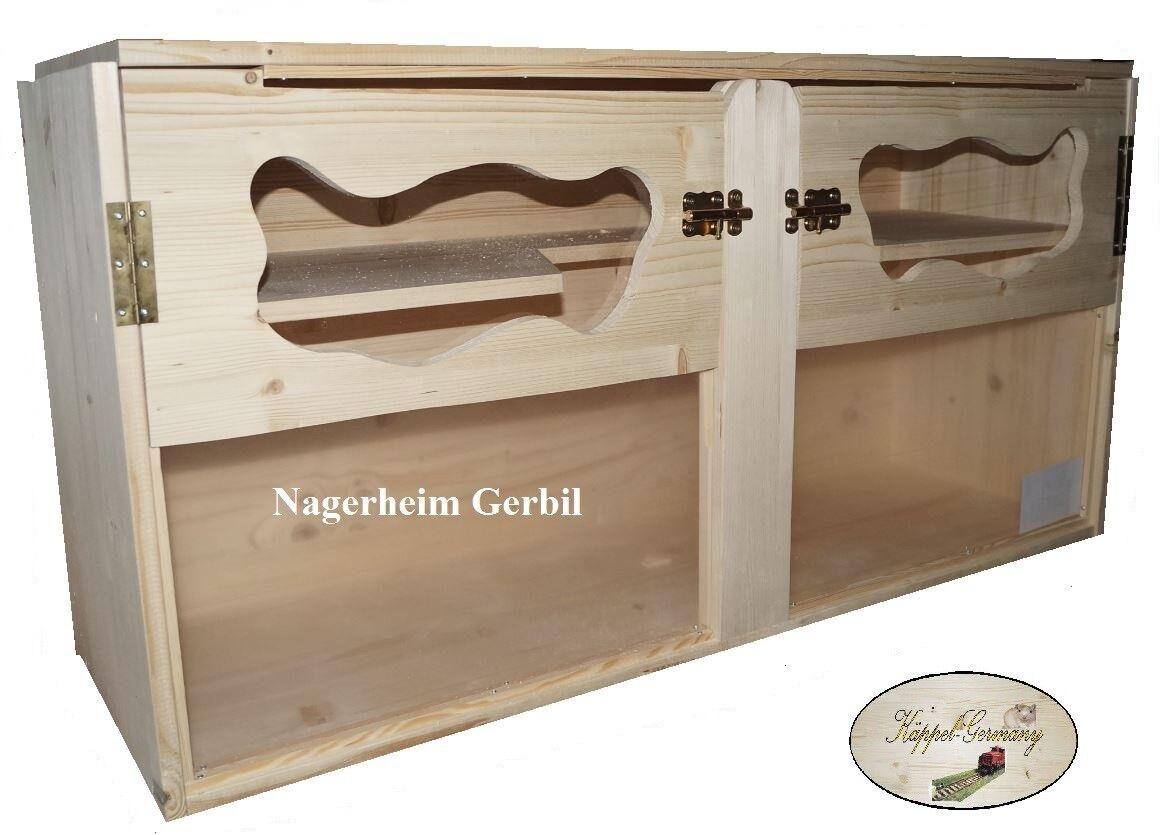 NAGERHEIM GERBIL 120x40x60cm Massivholz Gehege für Hamster Rennmaus von KÄPPEL-G