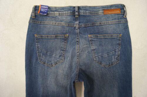 CECIL Scarlett Tapered Jeans Loose Fit W26,27,28,29,31,32 L32 Stretch blau NEU