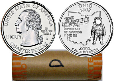 2002-D LOUISIANA STATE QUARTER UNCIRCULATED  BANK WRAPPED ROLL