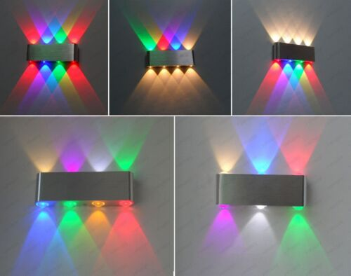 6W//8W Dimmable//N LED Wall Sconces Light Fixture Up//Down Lamp Bulb Hotel Bedroom