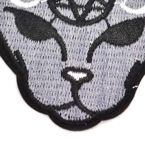 BD/_2Pcs Gothic Cat Sew Iron On Patch Embroidery Sewing DIY Halloween Appli KD