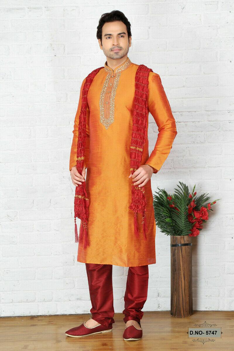 Mens Ethnic Bollywood Wedding Wear Designer Ethnic Kurta Payjama Dress India