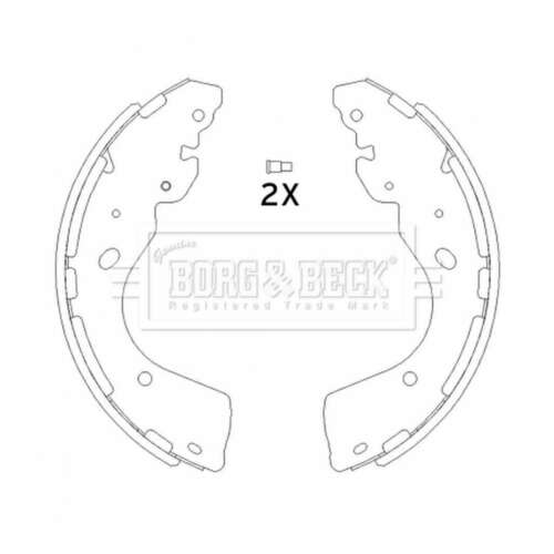 Genuine Borg /& Beck Rear Brake Shoe Set BBS6445