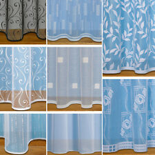 Straight Base Net Curtains With Slot Top ~ Sold By The Metre ~ White Net Voile
